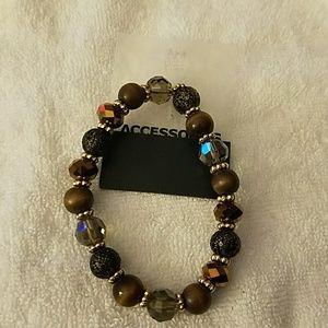 Jewelry - Brown Stone Stretch Bracelet